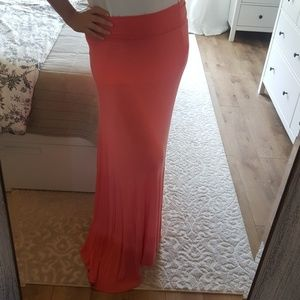 WET SEAL Coral Maxi Skirt